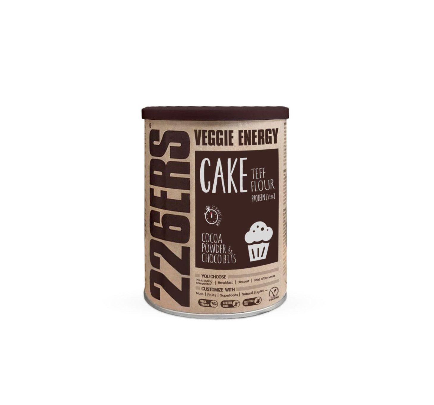 VEGGIE ENERGY CAKE - Harina de teff + Trozos de Chocolate